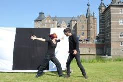 Commedia in front of Schloss Merode, Germany
