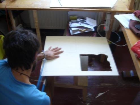 Pierre creating secret doors