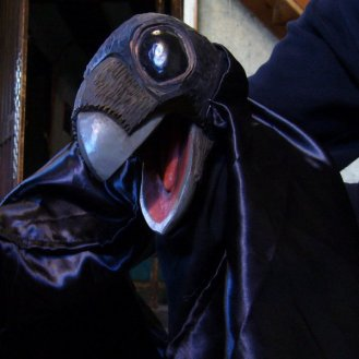 The Crow - Hand and Glove puppet - Wood