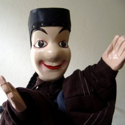 Guignol, Version I - Glove Puppet - Wood