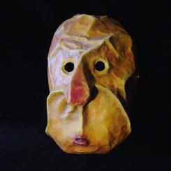 Silent mask, version 1 - Paper mâché