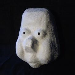 Larval mask - Paper mâché