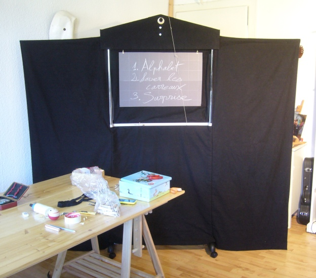 Our new shadow theatre complete!